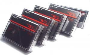 cassettes vidéo mini-dv